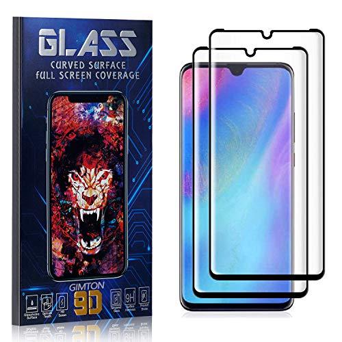 GIMTON Displayschutzfolie für Huawei P30 Pro, 3D Touch, Anti Kratzen, Keine Luftblasen Premium Displayschutz Schutzfolie für Huawei P30 Pro, 2 Stück