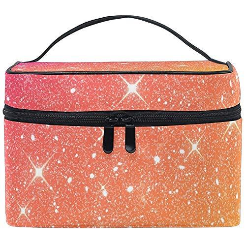 Shining Glitter Star Femmes Voyage Cosmétique Sac Portable Maquillage Train Case Trousse De Toilette Beauté Organisateur