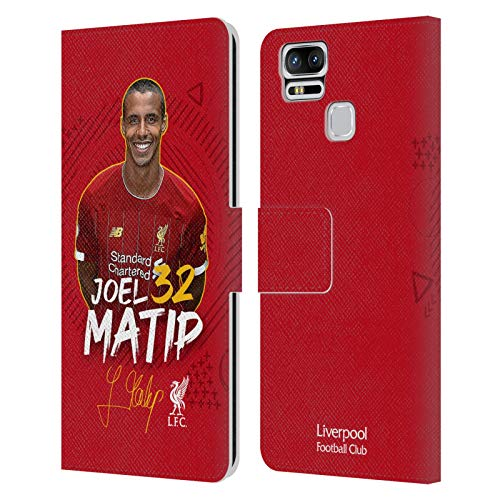 Head Case Designs Oficial Liverpool Football Club Joel Matip 2019/20 Primer Equipo Grupo 1 Carcasa de Cuero Tipo Libro Compatible con Zenfone 3 Zoom ZE553KL