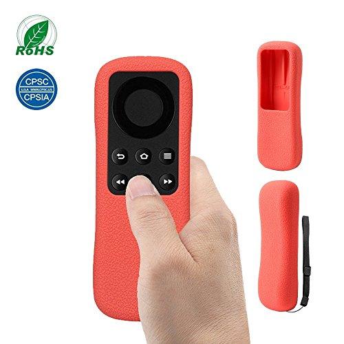 Custodia per Telecomando Fire TV Stick SIKAI Custodia Antiurto in Silicone per Amazon Fire TV Stick Copertura telecomando Protettiva Antipolvere Anti-scivolo con Cordino Anti-Perso (Rosso)