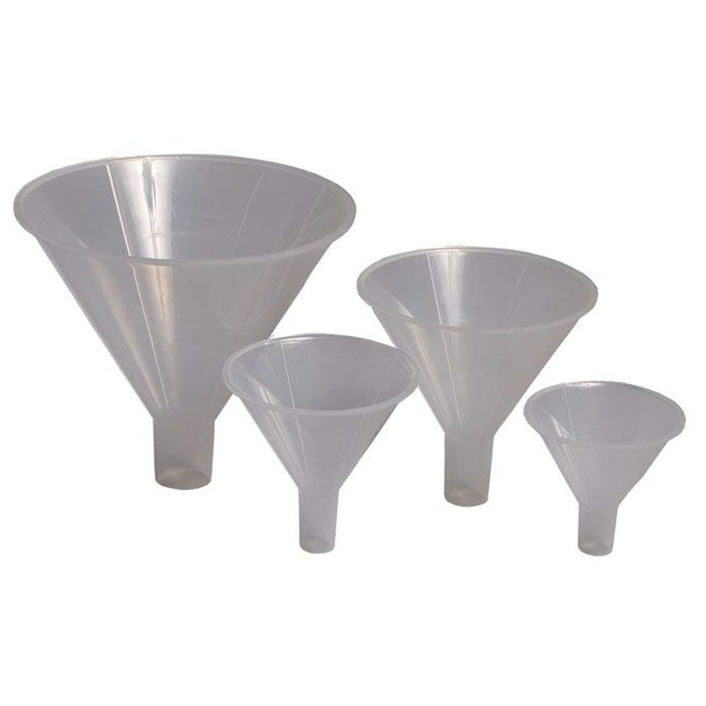Pack of 3 65mm Powder Funnel Karter Scientific Polypropylene