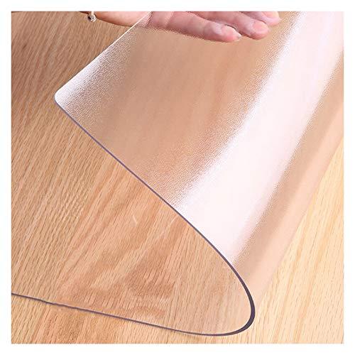 LSSB Mantel De Plástico Translúcido De PVC Personalizable 1,5/2,0 Mm De Espesor Mantel Sin Lavado Resistente A Los Arañazos, para La Cocina De La Oficina En Casa