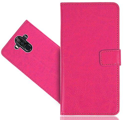 Ulefone Power 3 / Power 3S Handy Tasche, FoneExpert® Wallet Case Cover Genuine Hüllen Etui Hülle Ledertasche Lederhülle Schutzhülle Für Ulefone Power 3 / Power 3S