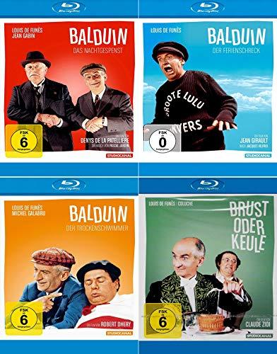 Louis de Funès Edition: Das Nachtgespenst + Der Trockenschwimmer + Der Ferienschreck + Brust oder Keule [4er Blu-ray-Set]