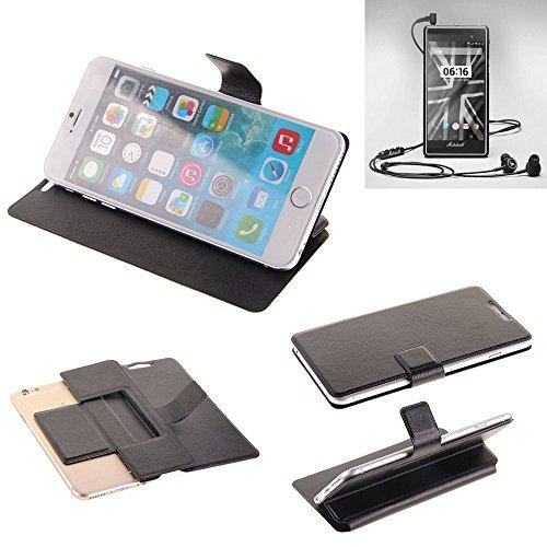 K-S-Trade® Handy Schutz Hülle Für Marshall London Flip Cover Handy Wallet Case Slim Bookstyle Schwarz