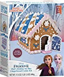 Frozen II Olaf s Holiday Ice Hut Gingerbread Cooking Kit - Crafty Cooking Kits - 17.5 oz (496g) - Makes 1 Hut - Includes Everything Needed to Decorate - Movie Themed Gingerbread House