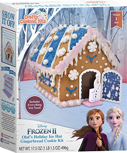 Crafty Cooking Kits Disney Frozen II Olaf's Holiday Ice Hut Gingerbread Cookie Kit - Contents Net...