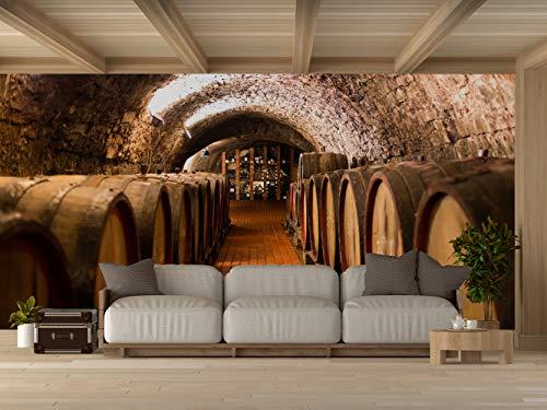 Oedim Vinilo para Pared Bodegas Madera | Fotomural para Paredes | Mural | Vinilo Decorativo |150 x 100 cm | Decoración comedores, Salones, Habitaciones