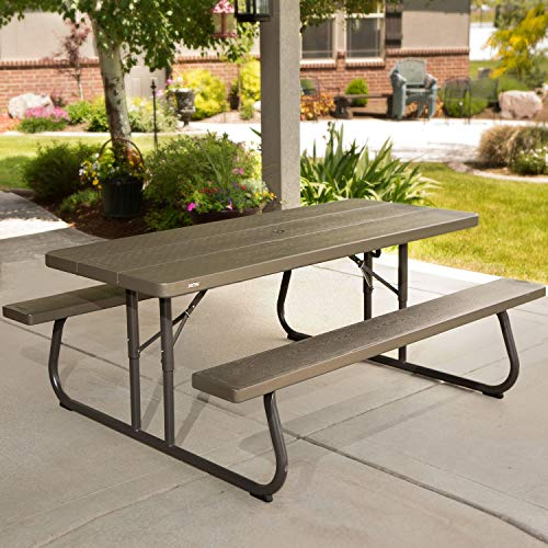 Online Shop Table with Benches Picnic Lifetime HDPE 183X145X74H