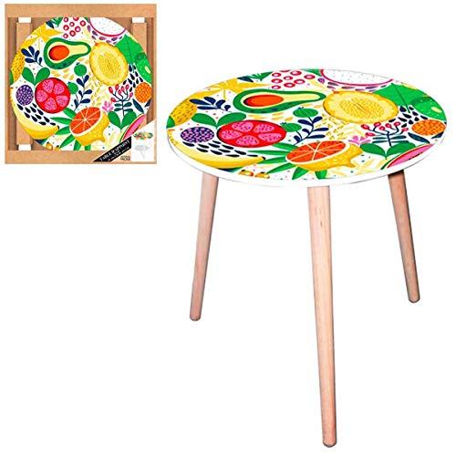 Les Trésors De Lily [Q5146 - Table Ronde résine 'Cocktail de Fruits' Multicolore - 40 cm