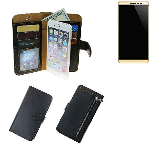 K-S-Trade® Schutzhüll Für Coolpad Max Schutz Hülle Portemonnaie Case Phone Cover Slim Klapphülle Handytasche E Handyhülle Schwarz Aus Kunstleder (1 STK)