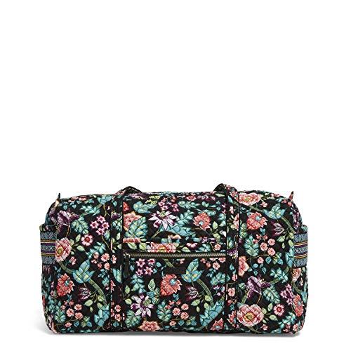Vera Bradley Women's Signature Cotton Large Travel Duffel Travel Bag, Vines Floral, One Size