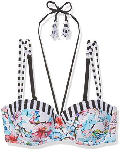 Schiesser Damen Mix & Match Bikini Bandeau-Top Bikinioberteil, Mehrfarbig (Multicolor 1 904), 46 (Herstellergröße: 046B)
