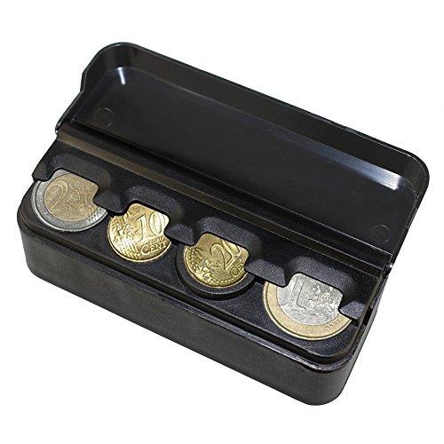 hscd1976Tragbarer Kunststoff-Münzhalter fürs Auto, Aufbewahrungsbox