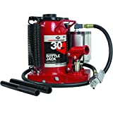 AFF Durable 30 Ton Super Duty Air/Hydraulic Bottle Jack with Welded Tank and Frame, Specially Engineered Air Motor, 5630SD