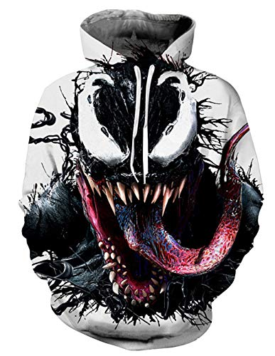 Sudadera Venom Niño Hombres Sudaderas sin Capucha 3D Unisex Impresión de Imitación...