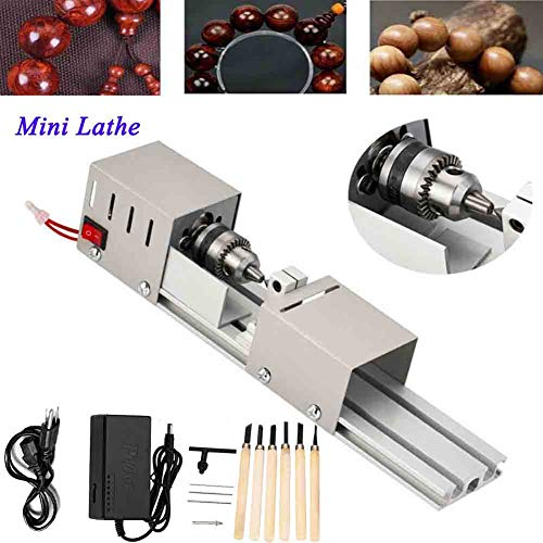New TABODD Mini Lathe Beads Polisher Machine DIY Woodworking Craft Rotary Tool 12-24V