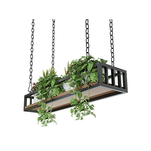 ZRX-Flower Rack Retro Decken-Art Blumen-Stand-Eisen-Kunst-Wand-Hängendes Wand-Regal verschobene Decken-Speicher-Gestell-Innenbalkon-dekoratives Blumen-Gestell (Größe : 80×25×15cm)
