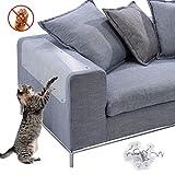 NATUCE 4 STÜCKE Groß Kratzpads für Katzen, Selbstklebend, Kratzschutz für Katze Hund, Möbelschoner von Katzen, Möbel Kratzschutz, Schutz vor Kratzern von Haustieren, Schutz Ihrer Gepolsterten Möbel