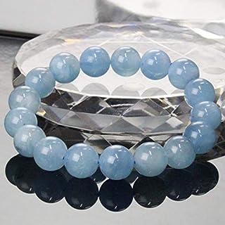 【一点物 12mm玉】 アクアマリン ブレスレット Bracelet ブレスレット Bangle 腕輪 ブレス Aquamarine ミルキーアクア メンズ レディース 一点物 天然石 パワーストーン a19598
