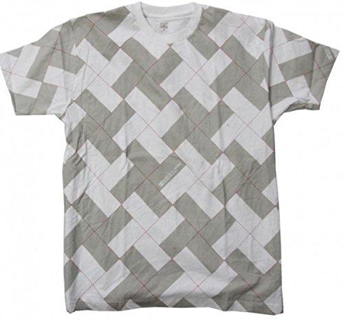 DC Skateboard T-Shirt White/Khaki/Caro, Grösse:XL