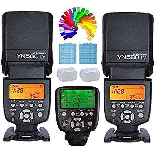 Yongnuo YN560IV Blitzgerät Blitz Speedlite 2PCS + YN560TXII C kabellose Auslöser Funkauslöser für Canon Eos Digital SLR Kemera 6D 7D 80D 70D 60D 760D 750D 700D 650D 600D 550D 500D 450D 400D 350D 300D