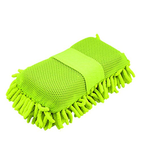 uxcell Car Auto Green Microfiber Cleaning Wash Sponge Pad