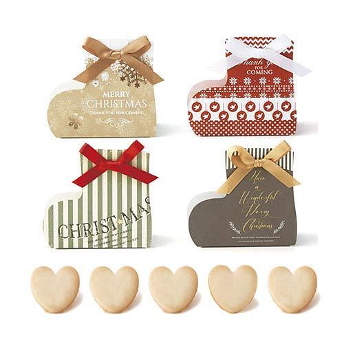 クリスマス ブーツ お菓子 プチギフト 『メリーソックス クッキー』業務用 大量 景品 イベント プレゼント 結婚式 子ども (30個セット)