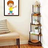 Assembly:- DIY (Do it yourself), Instructions In Box Suitable For: Living Room & Bedroom No of Shelves: 5, Material :MDF Shelves, Plastic Pipes. Adorn and add style to your living room with this corner stand from Flipzon
