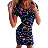 2019 Fashion!Women Casual Dress,Summer Sexy Letters Print Pockets Holiday Party Mini Dresses by Leewos