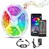 50ft/15m LED Strip Lights, Ultra-Long LED Lights Strip Music Sync, App Control with Remote, RGB LED Lights for Bedroom, DIY Color Options LED Tape Lights for Bedroom Ceiling Under The Cabinet