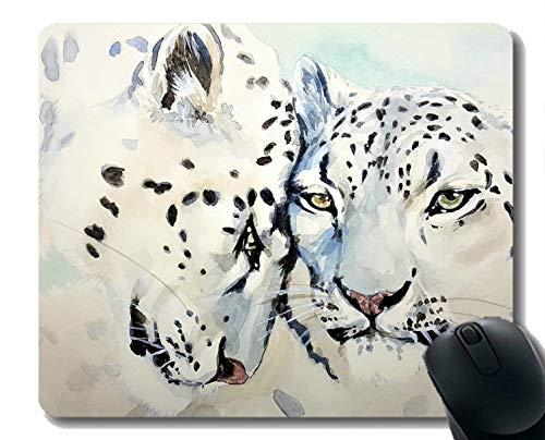 Yanteng El diseño del cojín de ratón del Juego, Acuarela de la Bestia del Gato del Leopardo modificó el cojín de ratón para requisitos particulares