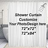 DJSBZ Custom Shower Curtain with Hooks Waterproof, Upload Your own Image/Photo Bathroom Washroom Hotel Decor Personalized Customize Design Wedding Family Picture 72x72 inch