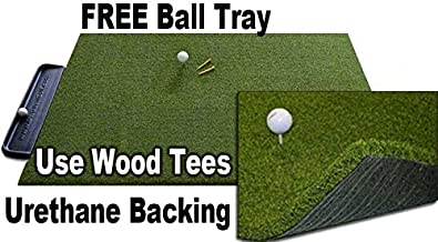 Gorilla Perfect Reaction Golf Mats. Use Real Wood Tees. at Last a Golf Mat with No Shock, No Bounce No Rubber Tees Required. Free Ball Tray. Gorilla Urethane Backed Golf Mats