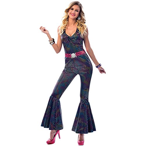 amscan 9903583 Sparkly Disco Diva Costume with Flare Pants-Size 14-16-1 PC