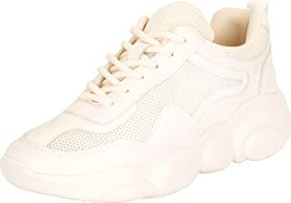 Cambridge Select Women's Retro 90s Ugly Dad Mesh Lace-Up Chunky Platform Fashion Sneaker