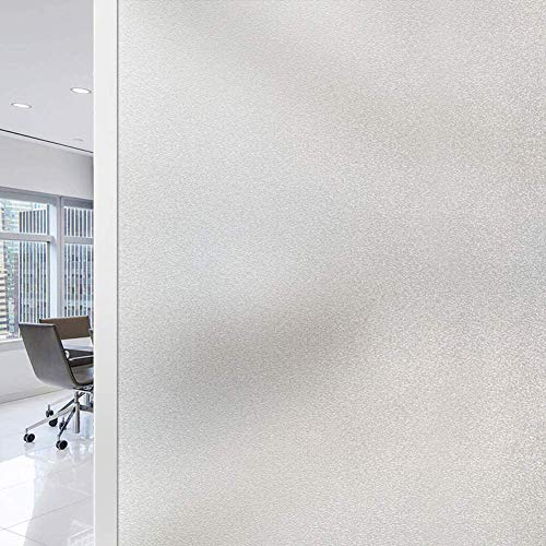 RMane Fensterfolie Milchglas Selbsthaftend Blickdicht Sichtschutzfolie Elektrostatische Statische FensterfolienAnti-UV für Zuhause Badzimmer oder Büro (Matt, 45 X 200 cm)