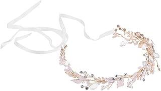 MagiDeal Women Rhinestone Pearl Headband Wedding Bridal Tiara Hair Band Head Piece Gift