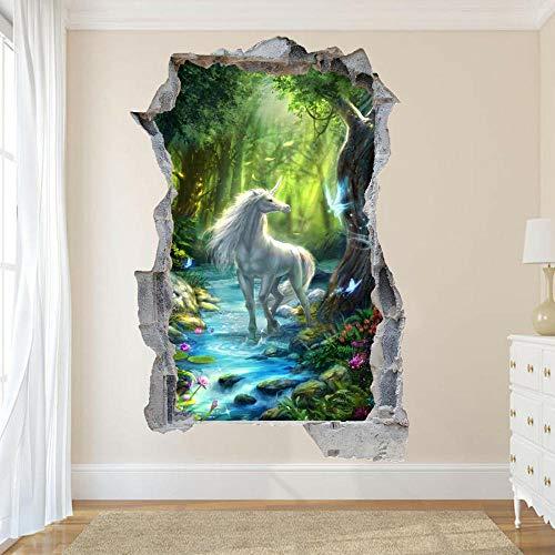 TJJS Pegatinas de pared River 3D Art Mural Decoración del hogar