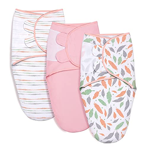 Baby Swaddle Wraps for 0-3 Months Newborn,100% Breathable Organic Cotton...
