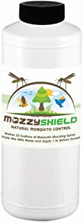 Mozzyshield - Natural Mosquito Control - Ultra Concentrated - Makes 8 Gallons - 1 Quart (32 oz.) of Garlic Mosquito and Pest Barrier Fluid