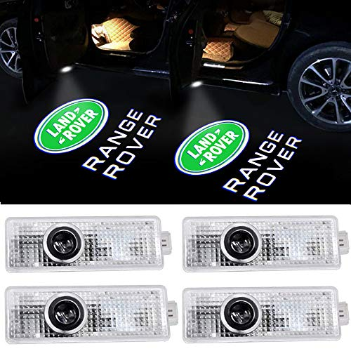 4pack Car Door Led Lights Projector Logo Shadow Ghost Light for Land Rover Range Rover 2007-2019 Compatible Welcome Lamp Accessories