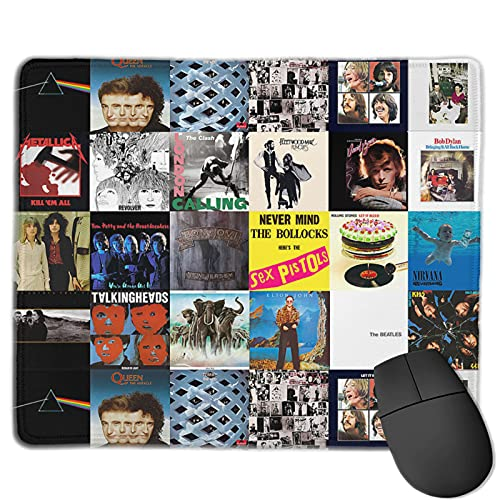 Rock Theme Metal Music Mouse Pad Office Gaming Mouse Pad Base Waterproof