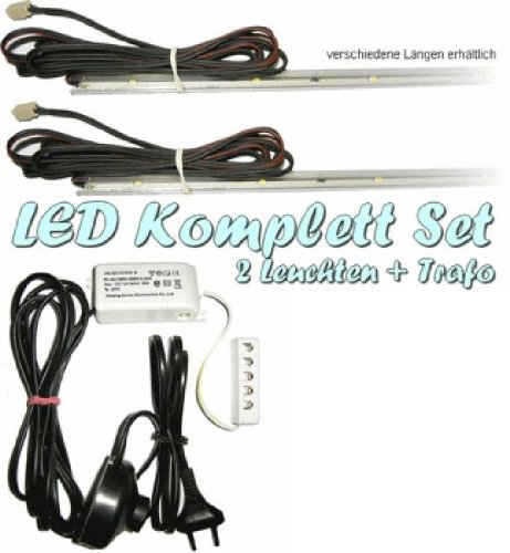 LED Glasbodenbeleuchtung 2er Kompl.-Set 360mm, weiß