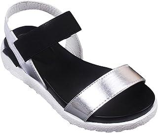 DZT1968 Women's Summer Fish Mouth Sandals Peep-Toe Low Shoes Roman Sandals