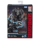 Transformers Toys Studio Series 50 Deluxe The Last Knight Movie WWII Autobot Hot Rod Action Figure - Ages 8 & Up, 4.5'