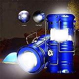 FEE-ZC Torce elettriche Portatili a LED per Lanterne da Campeggio, Attrezzatura Pieghevole per Attrezzi per Tende solari per Escursioni all'aperto