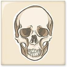 DIYthinker menselijke schedel schets illustraties glanzende keramische tegel badkamer keuken muur steen decoratie ambachte...