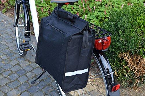 Gravidus Shopper Tasche für Gepäckträger (Schwarz)