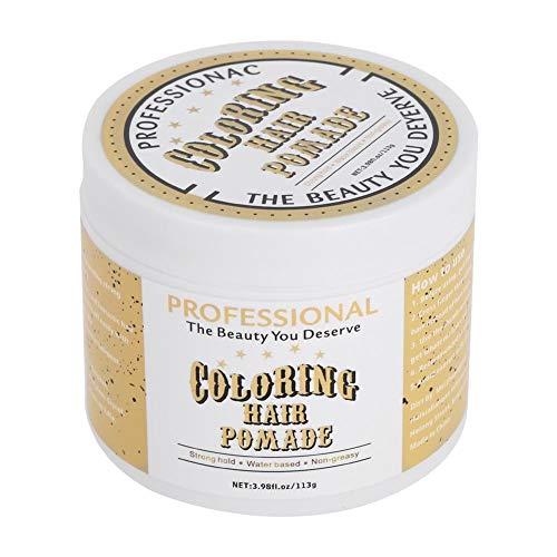 Haarpommade, 113g Wegwerpkleur Haarpommade Wax Styling Haarverf Kleuren Modder Kapsel Modellering, voel je vrij om haarkleuren te veranderen en gemakkelijk te wassen(#2)